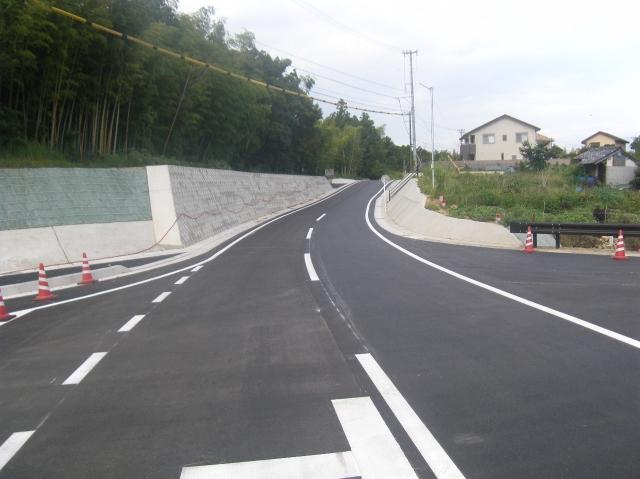 磯部大王線(志島BP)道路工事