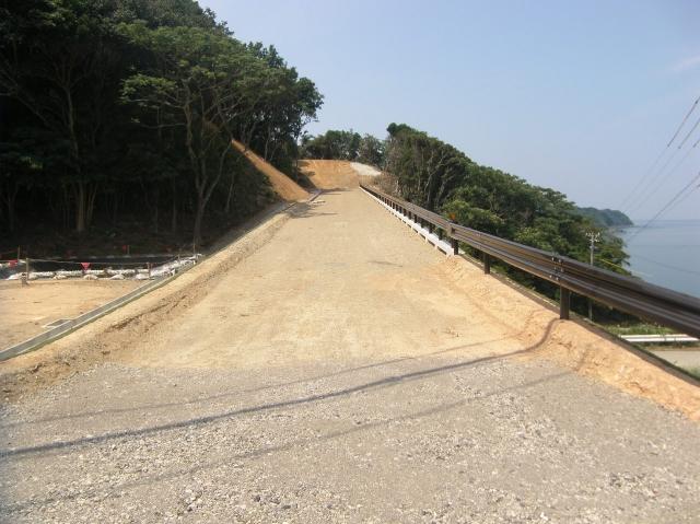 桃取地区関連道工事