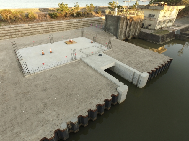 阿児地区(湛水防除)排水機場下部工事
